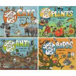 英文原版绘本 Just Like Us! 像我们一样 5册 全彩少儿动物科普 科学自然 蚂蚁 蜜蜂 鱼 狮子 鸟 儿童