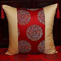 红木沙发靠垫套中国风扶手枕靠背套腰枕明清古典含芯