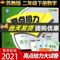 2020新版亮点给力大试卷 二年级 数学 下册 新课标 江苏版 教材同步