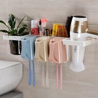 牙刷置物架壁�煳�壁式牙刷架牙刷杯洗漱杯�l生�g��意吸�P牙具套�b