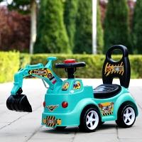 儿童挖掘机扭扭车四轮溜溜车男宝宝滑行车带音乐1-2岁玩具挖土机