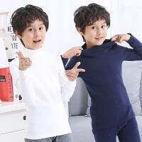 男孩打底衫儿童中领内衣秋衣上衣单件男童半高领保暖棉毛衫中大童