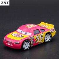 赛车汽车总动员合金玩具车模型麦昆板牙黑风暴杰克逊车王 藕色 35号车手