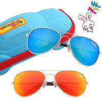 3-8岁男女儿童彩色偏光防尘太阳镜小孩太阳镜蛤蟆镜墨镜