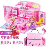 大礼盒别墅城堡女孩公主小伶玩具北美儿童梦幻厨房 芭比娃娃套装