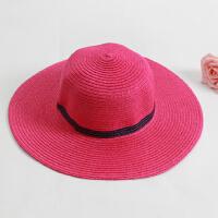 女童沙滩帽儿童草帽子海边防晒帽太阳帽大沿遮阳帽亲子帽