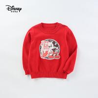 【今日4折�A估�r:63.5元】迪士尼童�b男童春�b新款洋��r尚米奇毛衣������衫�和�上衣�棉�9裢�款
