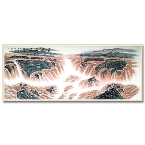 国家二级美术师  薛伯年 《黄河奔流》