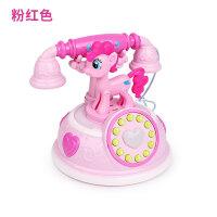 小马复古电话机早教故事机多种模式仿真电话机女孩过家家玩具宝宝 小马电话【粉红色】 送3节5号电池