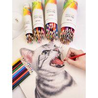得力彩色铅笔初学者儿童用彩铅画笔彩笔专业画画比工具套装手绘成人小学生24色36色48色绘画彩铅笔批发文具