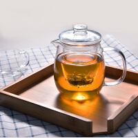 企鹅玻璃茶壶500ML 耐高温过滤泡茶杯加热泡花茶壶茶具茶器内胆过滤小企鹅高硼硅煮茶壶水杯杯子