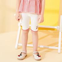 【2件3折价:29.7元,可叠券】迪士尼童装女童夏款新款梦幻童年女童针织俏皮五分打底裤