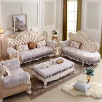 沙发坐垫套子四季欧式防滑贵妃厚布艺客厅组合套装定做y