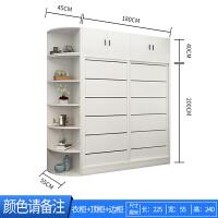 实木衣柜推拉门家用现代简约小户型主卧室板式定制滑动大衣橱 +角柜 2门