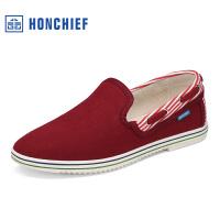 红蜻蜓旗下品牌HONCHIEF 红蜻蜓旗下春季新款简约百搭布鞋日常居家舒适男单鞋子