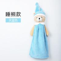 韩式卡通软绒萌宠挂式擦手巾可爱挂式擦手手帕儿童擦手毛巾y 35x28cm