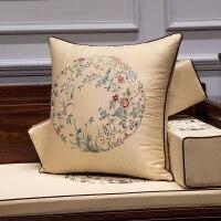 新中式刺绣红木沙发抱枕靠垫中国风1030现代简约客厅中式靠枕含芯