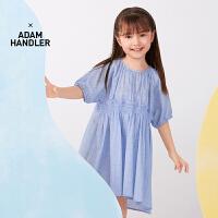 【秒杀价:154元】马拉丁童装女童连衣裙2020夏装新款可爱泡泡袖抽褶设计短袖连衣裙