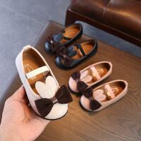 女童皮鞋公主鞋春秋儿童豆豆鞋软底宝宝鞋女童鞋单鞋