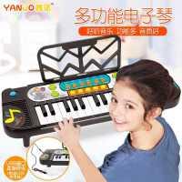 �和��子琴琴初�W女孩����早教益智�菲餍′�琴多功能玩具1-3-6�q