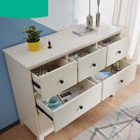 【支持礼品卡】卧室柜子简约多功能七斗柜实木脚抽屉式收纳储物柜 3sn