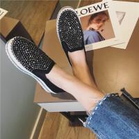 第2眼男人 春季单鞋女鞋2017新款女夏学生圆头中跟松糕鞋铆钉真皮