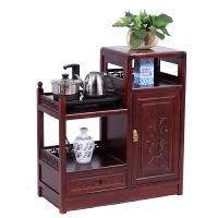 茶水柜酒水柜客厅储物收纳柜实木中式茶柜餐边柜茶车台纯净水桶柜 单门