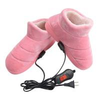 暖脚发热电暖宝加热保暖分脚电热棉鞋男女电暖鞋充电可行走