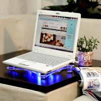 水晶透明散热器座 14寸笔记本电脑通用散热器