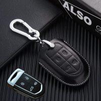 适用于宝沃bx7钥匙包BX5改装专用男BX6智能汽车遥控钥匙套扣 黑色(BX7 BX5)