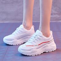 老爹 鞋子女秋冬季 鞋子子女2018新款网红小白 鞋子学生韩版休闲运动 鞋子