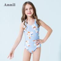 【3件3折:59.7】安奈儿童装女童连体泳衣套装夏季新款女宝宝游泳衣中大童泳衣