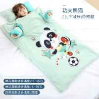 婴儿睡袋幼儿童春秋冬款夏季纱布防踢被神器薄款宝宝四季通用被子