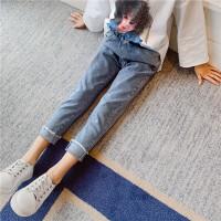 女童牛仔裤春秋款童装休闲裤儿童裤子