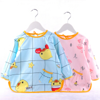 秋冬儿童罩衣防水男女宝宝长袖围兜画画衣护衣婴儿吃饭反穿衣