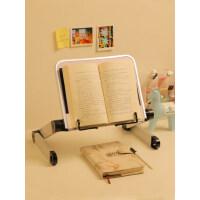 多功能阅读架看书架可调节可升降伸缩简易床上书立架小学生用夹书器儿童立式翻书考研神器读书架平板ipad支架