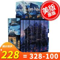 现货 哈利波特 英文原版 美国版Harry Potter全套1-7全集 15周年纪念套装Boxed Set 美国学乐出版 JK罗琳成名作正版进口图书 J.K.Rowling