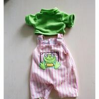 搪胶仿真娃娃衣服 布婴儿玩偶模型娃娃衣玩具衣服30-40-50厘米