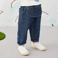 【5折券预估价:179.55元】马拉丁童装男小童裤子春装2020年新款洋气设计感丹宁风牛仔裤
