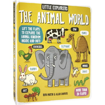 英文原版绘本 Little Explorers The Animal World 小探险家动物世界 纸板翻翻书 科普百科 小学生STEM课外读物