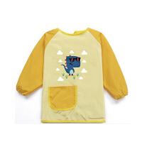 宝宝罩衣儿童防水反穿衣婴儿围兜吃饭罩衫小孩系带围裙画画衣