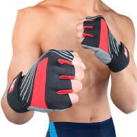 健身手套男士女健身房半指透气运动手套锻练哑铃举重护腕防滑