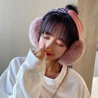 时尚圆点可折叠耳套冬季保暖百搭耳罩学生韩版ins少女学生耳捂子