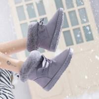 雪地靴女皮毛一体百搭冬季2018新款短筒网红短靴韩版学生加绒棉