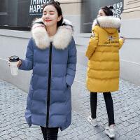 怀孕期羽绒秋冬上衣 孕妇棉衣冬装外套中长款韩版宽松厚棉袄