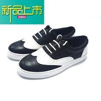 新品上市鞋子男鞋休闲鞋鞋子板鞋平底白搭平底皮鞋鞋子 Brogue 布洛克