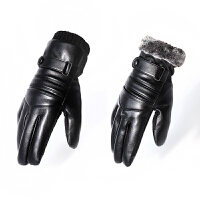 皮手套男士韩版冬季防滑防风骑行摩托车加绒加厚保暖触屏防水手套
