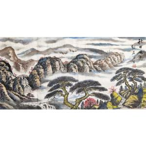 03_朗绍君_著名画家_经典山水_34-68cm 值得收藏