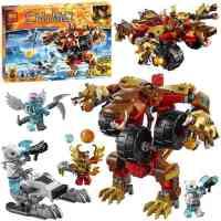 10354气功传奇赤马神兽 维克熊的变形机甲战熊拼装积木玩具