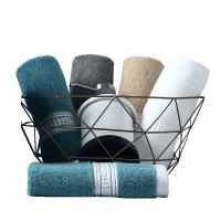 五星级酒店毛巾纯棉加厚洗脸家用面巾柔软吸水四方小方巾4条 西雅图4条装